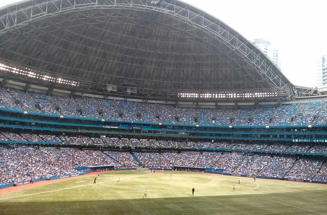 The view from the Peanut/Nut Reduced Zone in the Rogers Centre